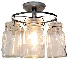 vintage ceiling lighting. Vintage Mason Jar Ceiling Light Farmhouseflushmountceilinglighting Lighting N