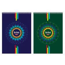 <b>Блокнот</b> А5 60л, гребень, Hatber <b>Four color</b>, жест.подложка (<b>4</b>/64 ...