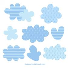 Free Vector | Clouds with <b>cute stripes</b> and polka dots