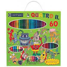 Фломастеры <b>Centropen</b> Quatroll, <b>набор</b> 60 предметов, 44 ...