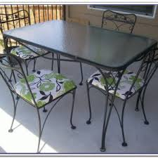 patio table and 6 chairs: wrought iron patio table and  chairs