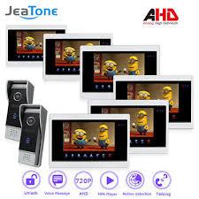 <b>JeaTone</b> AHD 7'' TFT LCD <b>Wired Video</b> Door Phone System Visual ...