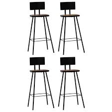 H4home Set of 4 Vintage Industrial <b>Bar Chairs Solid Reclaimed</b> ...