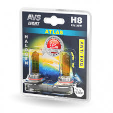 Галогенная <b>лампа AVS</b> /<b>ATLAS ANTI-FOG</b>/желтый H8.12V.35W.2шт.