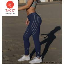 Printed Reflective Sport Yoga Pants <b>Women Fitness Gym Leggings</b>