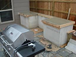 Countertop For Outdoor Kitchen How To Build Outdoor Kitchen Cabinets The Ojays Kitchens And