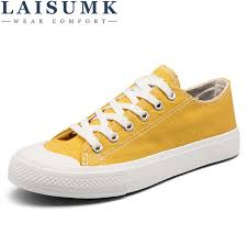 <b>2019 LAISUMK</b> Women Casual Shoes Canvas <b>New</b> Denim Trainers ...