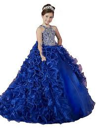<b>Princess</b> Girls Removeable <b>Skirt</b> Halter <b>Rhinestone</b> Royal Ball ...