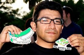 Louie Zamora and his Senate stickers. - LouieSenatestickers
