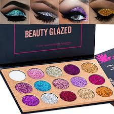 Beauty Glazed 15 Colors <b>Glitter Eyeshadow</b> Palette <b>Shimmer</b> Ultra