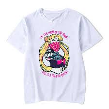 Super Cute Sailor Moon Kawaii <b>Womens</b> T-shirt <b>Women Summer</b> ...