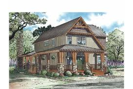 Eplans Cottage House Plan   Rustic Open Plan for a Narrow Lot    Front