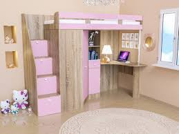 <b>Кровать</b>-<b>чердак Golden</b> Kids 6 дуб сонома розовый: продажа ...