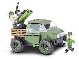 <b>Конструктор Армейский пикап</b> с минометной установкой <b>Cobi</b> ...
