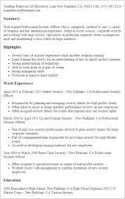 professional professional security officer templates to showcase    resume templates  professional security officer