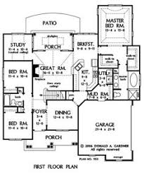 images about house plan obsession on Pinterest   House plans    First Floor Plan of The Valmead Park   House Plan Number     story house