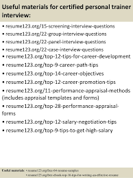 top  certified personal trainer resume samples       useful materials for certified personal trainer