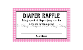 printable pink gingham diaper raffle tickets great for baby printable pink gingham diaper raffle tickets great for baby showers