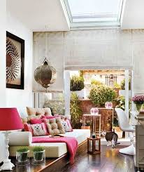 vintage home decor and furniture under skylight with antique pendant lamp and roll up window antique home decoration furniture