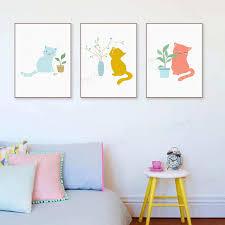 Cute <b>Cat Animal</b> Pot Plant Leaf • Posters & <b>Prints</b>, Rectangle Posters ...
