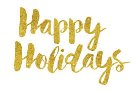 Image result for happy holidays Gold