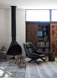 cool indoor fireplace stove california interiors commune designs