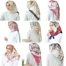 <b>Women hijab scarf Fashion</b> Imitation Silk Scarves large Square ...