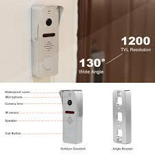 HomeFong Video Intercom 10 <b>inch</b> Video Door Phone <b>1200TVL</b> ...