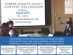 human rights essay contest colloquium institute for the study of human rights essay contest colloquium