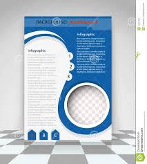 blue flyer design stock vector image  blue flyer design