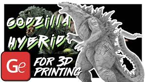 <b>Godzilla</b> Hybrid 3D <b>Printing</b> Miniature | Assembly by Gambody ...