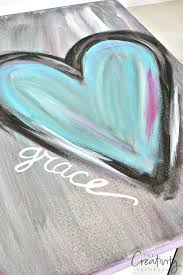 <b>DIY</b> Abstract <b>Heart</b> Painting and a Fun Paint Party