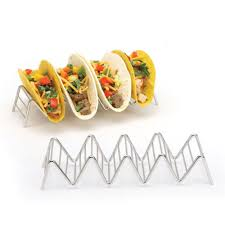 Convenient Chic <b>Stainless Steel</b> Taco Holder Stand Tray <b>Rack</b> Oven ...