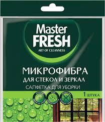 <b>Салфетка Master FRESH для</b> стекол и зеркал МИКРОФИБРА 1шт.