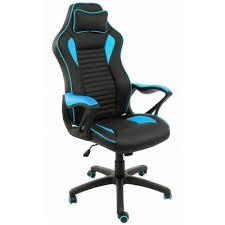 Купить игровое <b>кресло WOODVILLE</b> LEON ЧЕРНОЕ / ГОЛУБОЕ в ...
