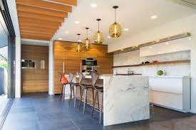 calacatta marble kitchen waterfall: view in gallery kitchen with calcutta gold marble  spectacular rooms with marble walls