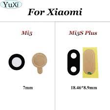 <b>YuXi 2 Pcs For</b> Xiaomi Mi 5 mi5 Rear Back Camera Glass Lens ...