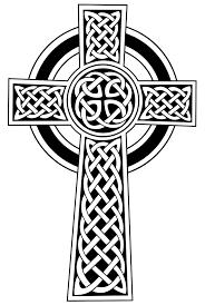 Image result for white celtic cornish cross on black flag