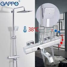 <b>GAPPO shower</b> system Auto Thermostat Control <b>shower</b> faucets ...