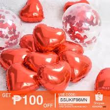 <b>6pcs small</b> Foil <b>balloons</b> heart shape 10inches | Shopee Philippines