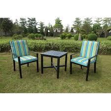 crossman piece outdoor bistro: rockview  piece outdoor bistro set black seats