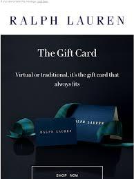 Ralph Lauren UK: The Ralph Lauren Gift Card   Milled
