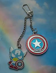 <b>CAPTAIN</b> AMERICA <b>SHIELD KEYRING KEYCHAIN</b> HANDBAG ...
