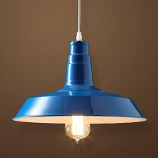 blue 1 light industrial pendant lighting blue pendant lighting