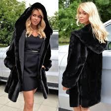 Cotton Padded Long Slim Girls Thickened Mink <b>Imitation Fur Coat</b> ...