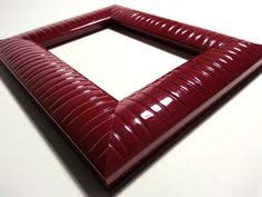 40 ft - Italian <b>Modern Red</b> Picture <b>Frame</b> Moulding, Ribbed, Wood ...