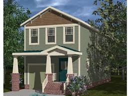 Narrow Lot House Plans   Craftsman Style Narrow Lot Home Plan    Bungalow Home Plan  H