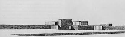 Completing Mies van der Rohe    s Brick Country House   Features    Mies van der Rohe    s sketch of the Brick Country House  aka Brick Country Villa