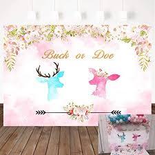 Mehofoto Deer Gender Reveal Backdrop Buck and ... - Amazon.com