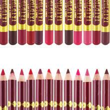 Деревянный <b>карандаш для губ</b>, 12 цветов, <b>водостойкий стойкий</b> ...
